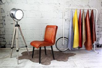 Polsterstuhl Linda im vintage Design versprüht den Charm Italiens, ein äußerst bequemer Esszimmerstuhl.