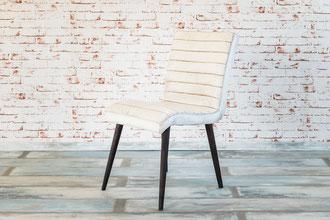 Linda E ist ein formschöner Stuhl aus Echtleder, der Stuhl passt hervorragend zu einem klassischen oder modernen Esstisch.