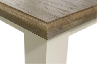 Detailbild Landhaus Tisch Tischplatte