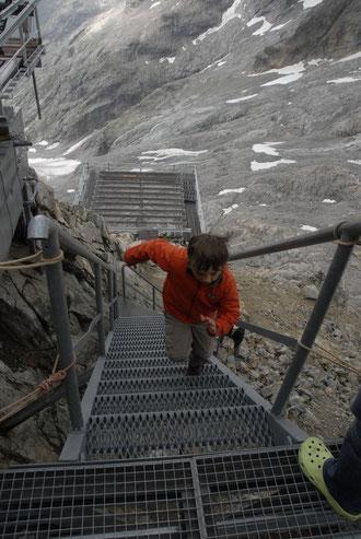 ... et on monte l'escalier du Promontoire, le plus rapidement possible... attention au chrono !