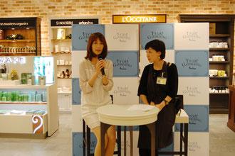 フリーアナウンサーの青木裕子さんのトークイベントも