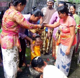Hindu-Frauen in Festgewändern