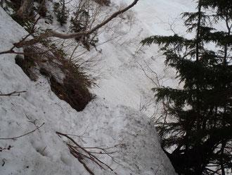 大滝のトラバース