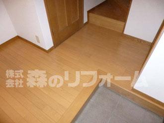 松戸市 内装リフォーム 玄関ホール床リフォーム後