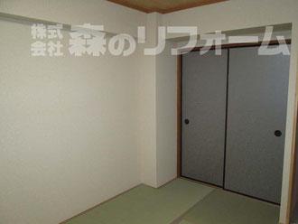 松戸市 まるごとマンションリフォーム 和室リフォーム 畳の表替えリフォーム 襖の貼替リフォーム 襖のお色がお洒落です