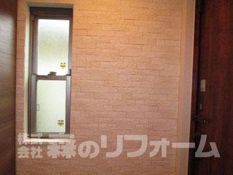 松戸市 新築オプション 玄関エコカラット貼り付け後