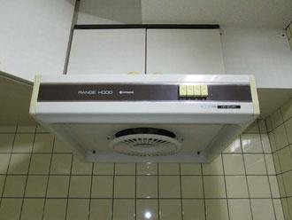 松戸市 水まわりキッチン換気扇リフォーム前