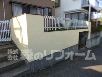 松戸市 外壁塗装リフォーム 門ペイ塗装リフォーム後