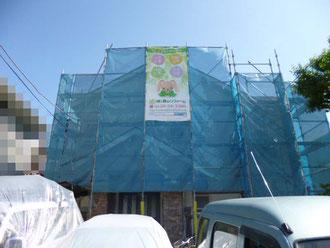 柏市 屋根外壁塗装リフォーム中