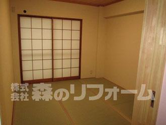 松戸市マンションリフォーム 和室リフォーム 障子の貼替 クロス貼替