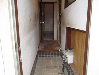 リフォーム前玄関