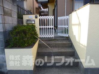 松戸市 外壁塗装リフォーム 門扉まわり塗装リフォーム後
