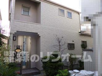 松戸市 外壁塗装リフォーム 外壁タイル部分貼付リフォーム後