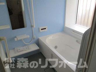 松戸市水まわり浴室リフォーム 在来からUBへ 足が伸ばせる浴槽になりました