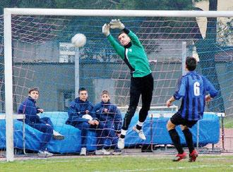 30': la palla calciata da Lombardo si infila alle spalle di Blasetta