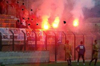 Gli Ultras nerazzurri fanno festa