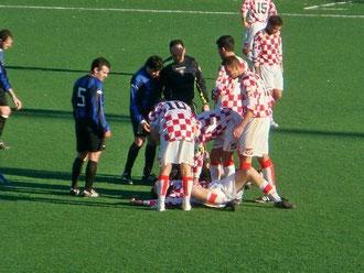 Infortunio ad un calciatore matuziano