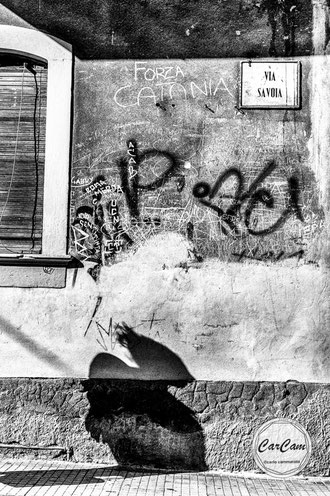 Sicile, sicilia, trinacria, catane, savoie, shadow, aci castello, grafitti, art, beatles, catania, italie, art, travel, love, amour, noir et blanc, black and white, street photography, carcam, je shoote