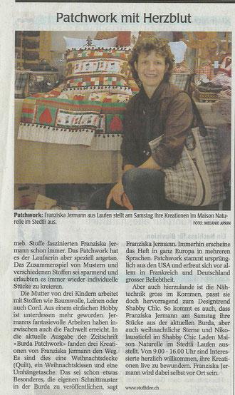 Zeitungsartikel vom 22. November 2012