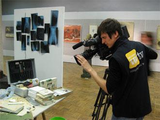 Presse bei der ARTvisite im Mittelrhein Museum Koblenz