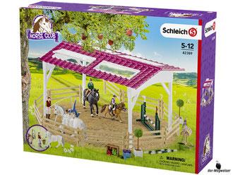 Empfehlung Schleich Reiterschule mit Reiterinnen und Pferde 42389