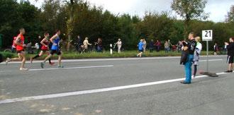 Mit großen Schritten geht's auf die Halbmarathon-Marke zu