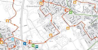 Detaillierter Streckenplan - KM 27 bis 39