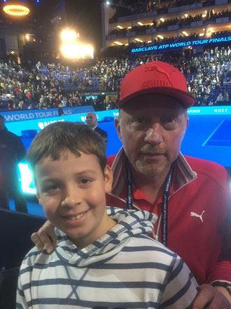Tom und Boris Becker bei dem ATP WM Finale in London