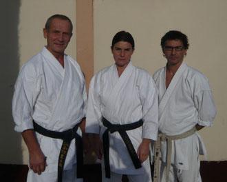 Françoise entourée de Rodolphe Giannotti et Jean-Michel GUEDJALI en 2010