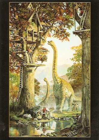 Une autre vue de Dinotopia. Morning in Treetown.