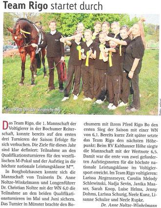 Reiter und Pferde Westfalen, Juni 2009