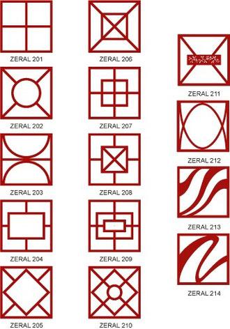 Diseños de la barandilla Zeral