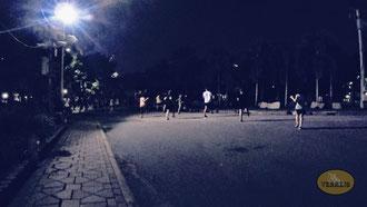 Sport im Lumphini Park Bangkok