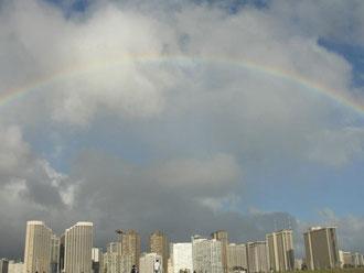 ハワイで見たレインボー