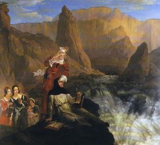 Laure et Pétrarque à la Fontaine de Vaucluse, Philippe-Jacques Van Brée, Musée des Beaux-Arts de Rennes