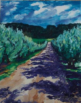 le chemin à Val Joanis, 50/40cm oil on canvas