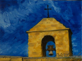 0035-the Priory on Ste Victoire, 40/30cm oil on canvas