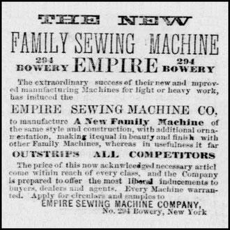 January 1870 - 294 Bowery N.Y.