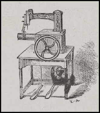 An early shoe stitching machine by Nichols Bliss (1854)