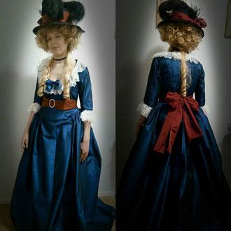 """Robe à l'anglaise tricolore """"14 julliet"""""""