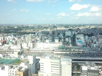 大宮駅を一望です。