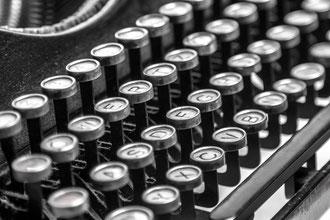 alte Schreibmaschine Tastatur