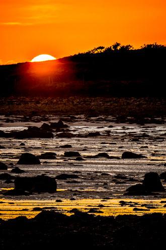 Plouguerneau coucher de soleil rochers