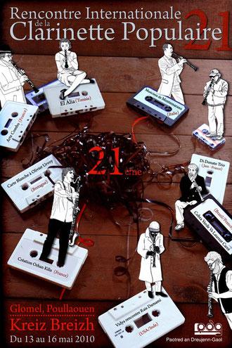 glomel affiche clarinette festival poullaouen kreiz breizh illustration brest paris bzh graphiste designer 29 22 56 35 design dessinateur pub prospectus cassettes