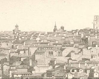 Detalle Lamina Vista de Toledo desde el sudeste