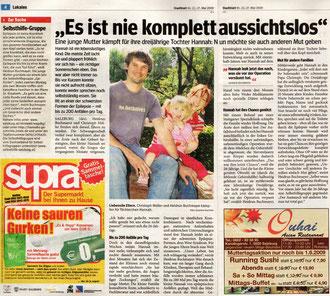 Artikel über mich und Mama's Selbsthilfegruppe im Salzburger Stadtblatt.