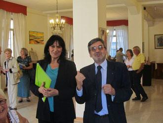 Inaugurazione 15° ARTIversario - Emanuela Terragnoli con il Presidente onorario Enrico Luigi Boni - scatto di Alessandra Trischitta