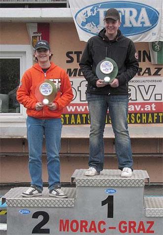 Die besten Jugendlichen TW 1. Platz: Marco Weigerding, D 2. Platz: Bernhard Unterberger, A