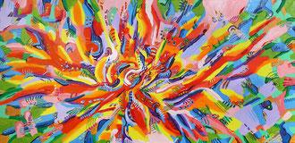 Verstrahlt 2009 Acryl auf Leinwand  98 x 50 cm