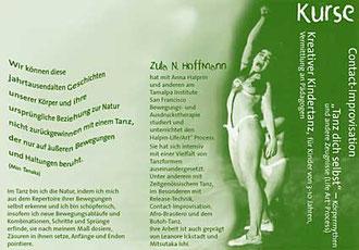 Flyer Ausdruckstanz mit Zula Hoffmann